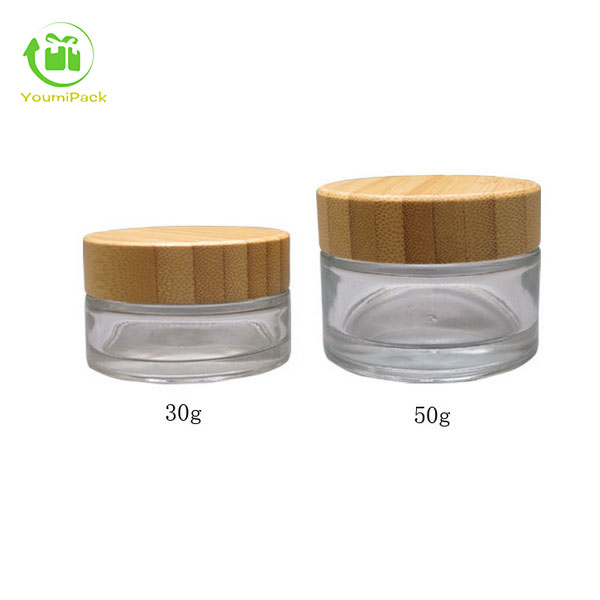 frosted green glass jars 50g