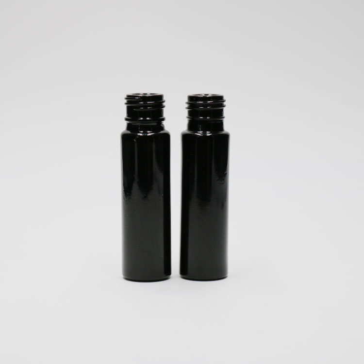 10ml black dark violet glass perfume roll on bottle