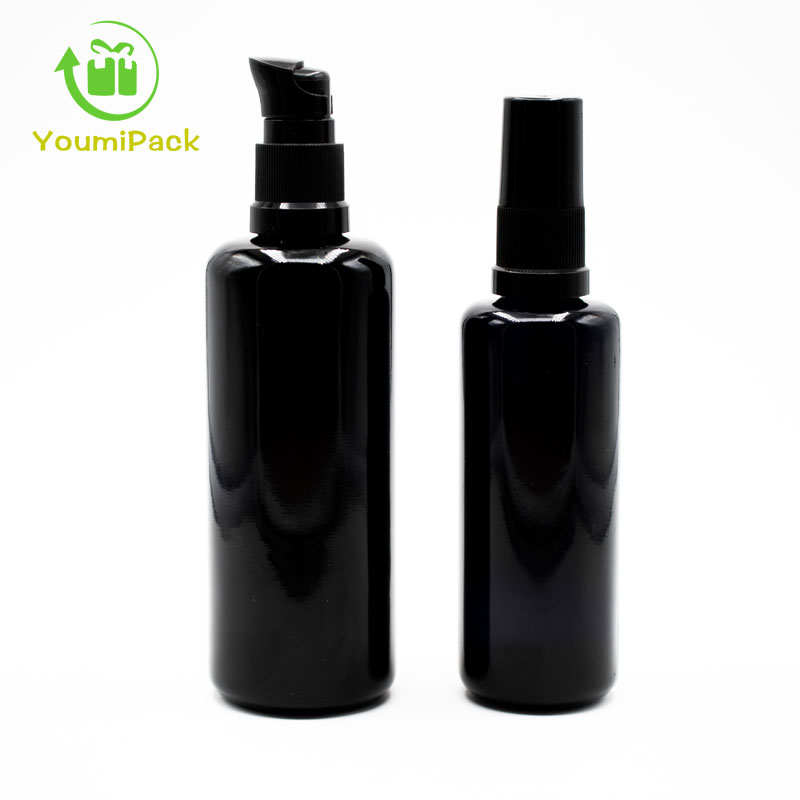 black glass bottles