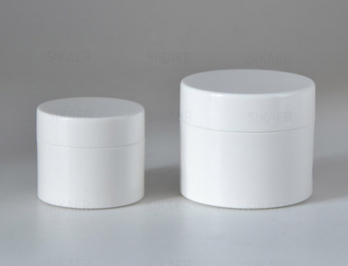 50g 100g PLA biodegradable white cream jar