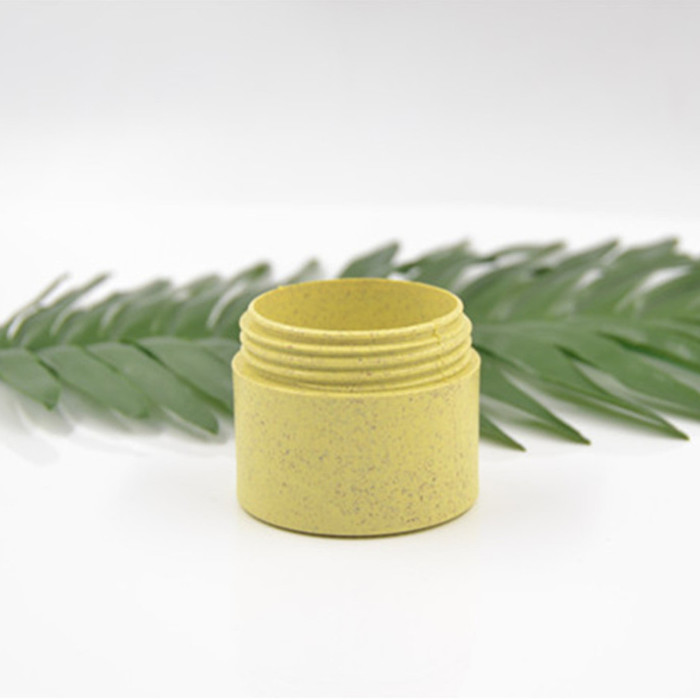 50g eco-friendly yellow straw thick wall jar