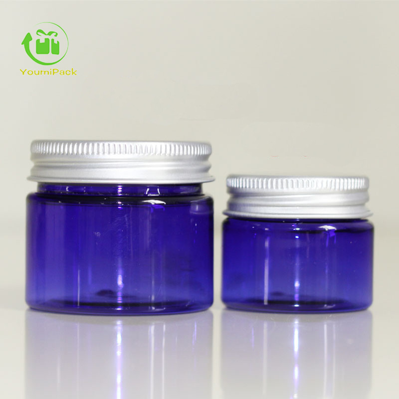 30g 50g blue PET jars with lid