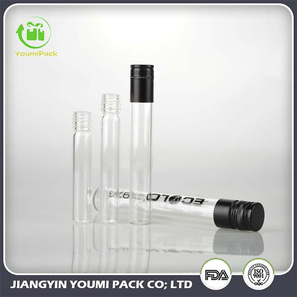 Glass Test Tube For Wine Packaging With Aluminum Cap 50ml